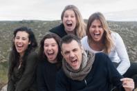 """Autora/directora (Carla Torres Danés) i actors (Eladio Herranz, Mireia Angulo, Cristal Barreyro, Mireia Isal) de """"El mirador de les paraules que no puc dir"""""""